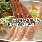 関西からカニと温泉が楽しめる日帰り旅行先おすすめ10選!食べ放題が出来る宿も!