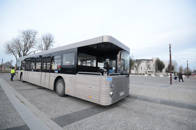 モンサンミッシェルへ行く無料のバス