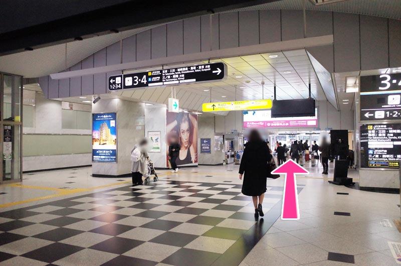 東梅田 ここ 駅 から