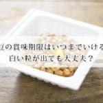 納豆の賞味期限はいつまでいける?白い粒が出ても大丈夫?おすすめの保存方法もご紹介!